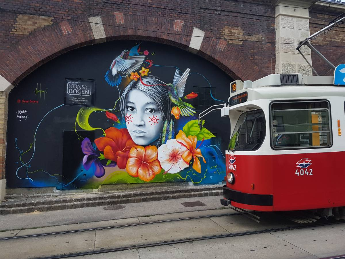 OBED OSORIO - iOnArt - GRAFFITI - KUNSTBOGEN - VIENNA