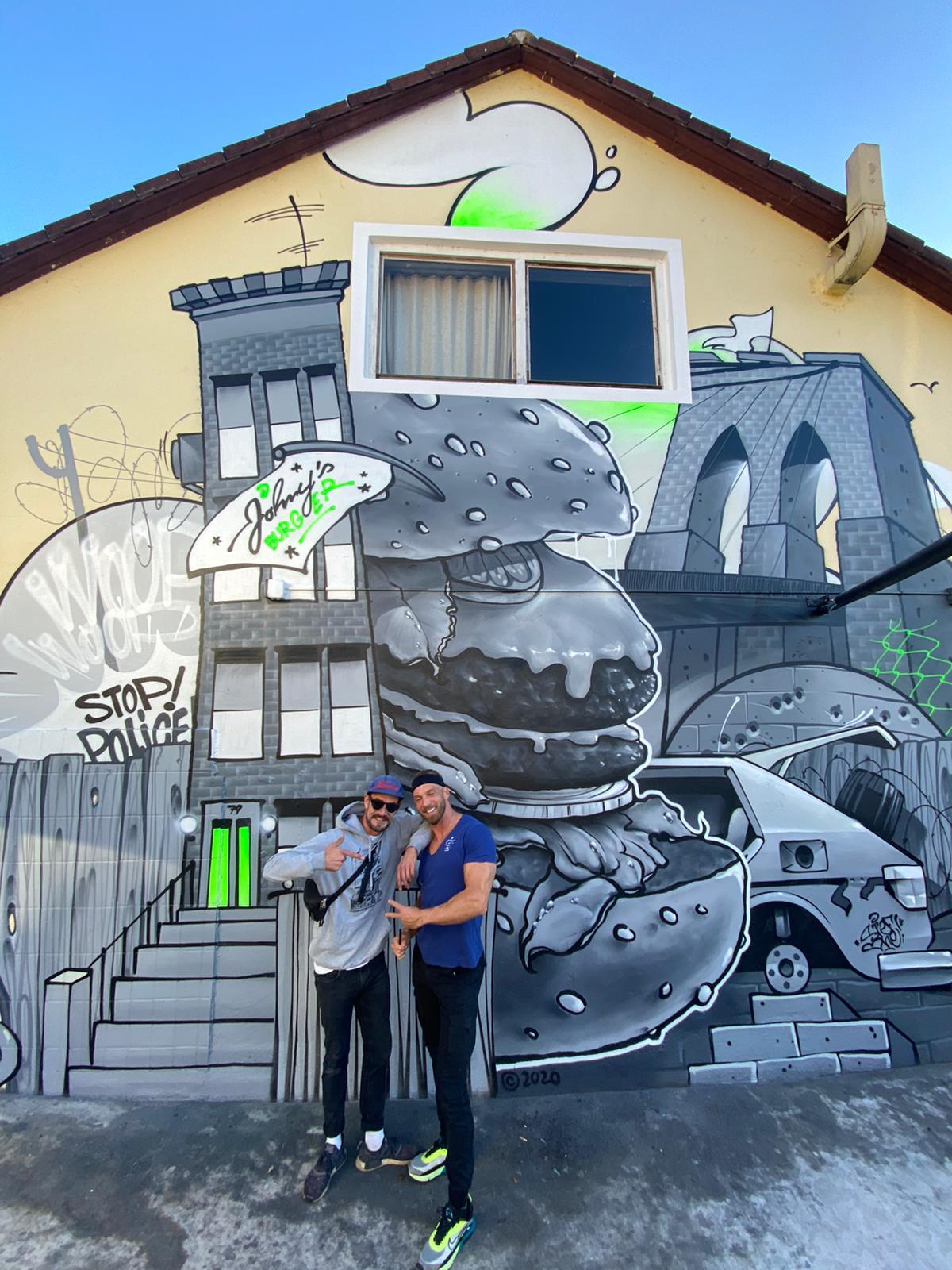 Johny`s Burger Rico79 Molotow TM Flame  Mural City Scheibbs